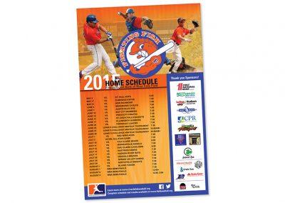 Team Schedule Poster